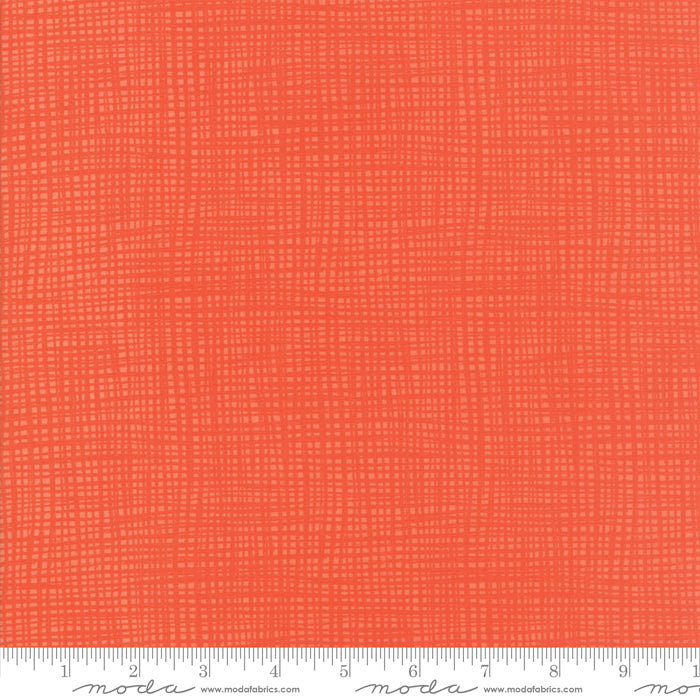 "Moda 108"" fabric Geranium Orange Well Said 11141-14"