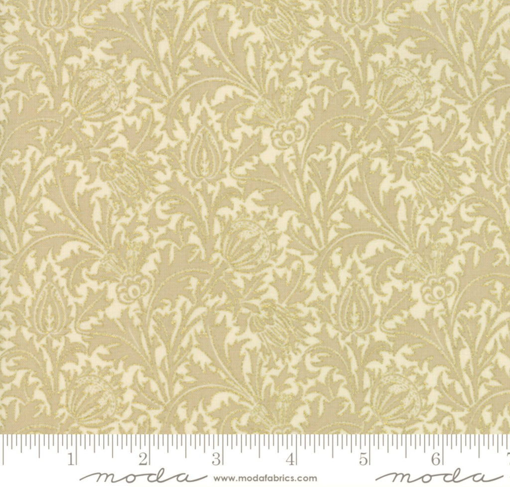"Moda 108"" Morris Holiday Metallic Linen 11144-11M"