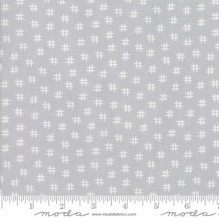 "Zen Grey Muslin Mates 108"" fabric by Moda, 11151-16"