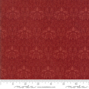 "Red pattern 108"" fabric by Moda, William Morris, Garden, 11155-15"