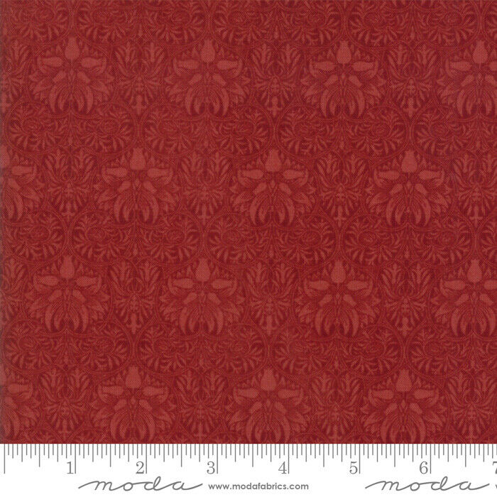 "Red 108"" fabric by Moda, William Morris, Garden, 11155-15"
