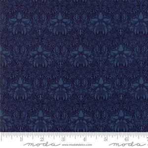 "Indigo Blue 108"" fabric by Moda, William Morris, Garden, 11155-19"