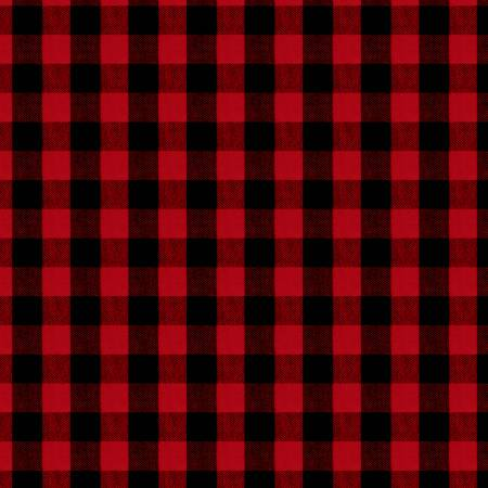 "Red Buffalo Check 44"" fabric, Wilmington, 11168-393, Cozy Critters"