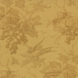 "Champagne Yellow Vin Du Jour grape vines 108"" fabric by Moda, 11085-13"