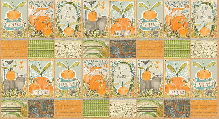 "Fall Bounty Panel, 44"" quilt fabric, Blend 44"" 112.119.02.1, fall goodness"