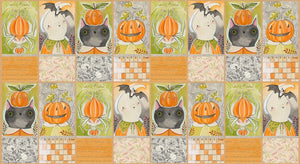 "Pumpkin Blocks, Happy Halloweeny,  23"" Panel, Blend Fabrics, 112.123.02.1"