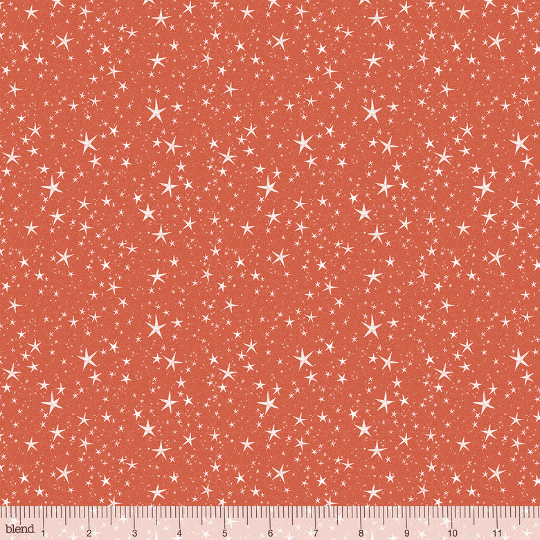 "Orange Sienna Halloween stars 44"" fabric, Blend Fabrics, 112.123.06.1, Halloween Skies"
