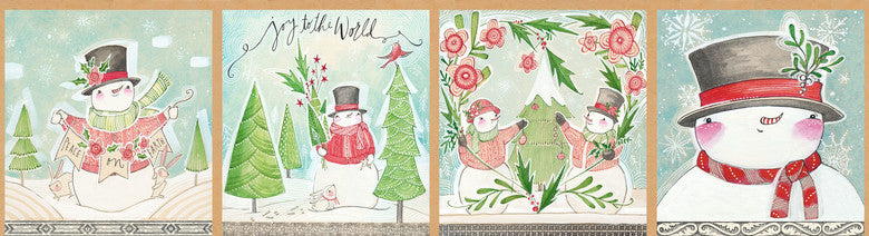 Cute Snowman panel repeat, Blend Fabrics, 112.124.01.1, Snow Fun