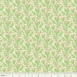"Holly and Berries 44"" fabric, Blend Fabrics, 112.124.03.2, Holly Jolly Green"
