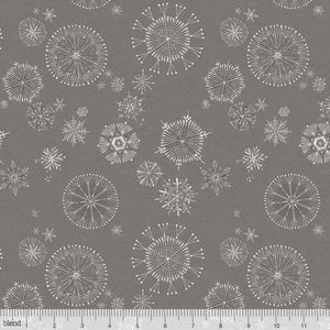 "Gray snowflakes 44"" fabric, Blend Fabrics, 112.124.05.2, Snowy Day"