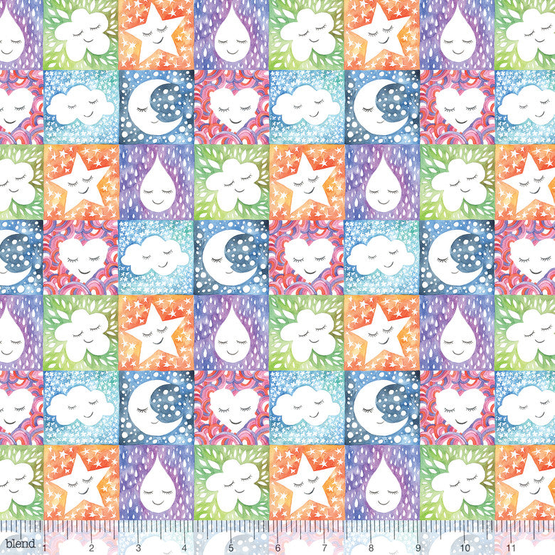 "Happy Skies Natural Smiles, 44"" quilt fabric, Blend Fabrics, 113.118.03.1"