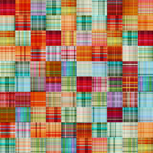 "Multi Plaid Patch 44"" digital fabric by 3 wishes, The Great Outdoors, 16031-MUL"