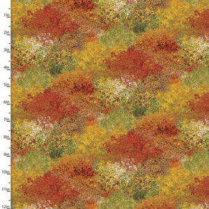 "Tree Tops 44"" digital fabric by 3 wishes, 16590-Mlt, Autumn Steam Collection"