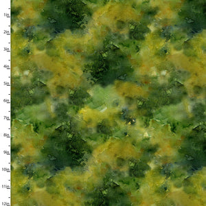 "Green Trees 44"" digital fabric by 3 wishes, 16595-Grn, Sunflower Stampede"