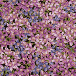 "Avery hill Lavender flowers metallic by Robert Kaufman, 44"" fabric, RKSRKM-17990-23"