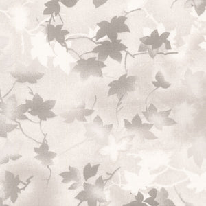 "Gray leaves, 118"" quilt fabric, Fabriquilt, 183-133910"