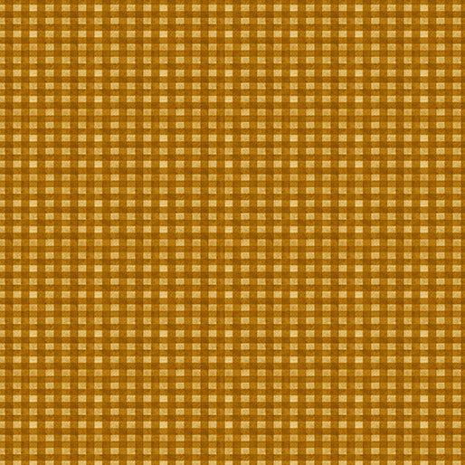 "Fall Gingham Gold 44"" fabric, Benartex, 1840-33, Rustic Fall"