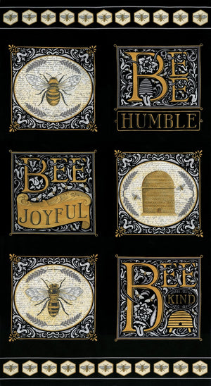 "Moda 44"" Bee Joyful Panel 19870-13"