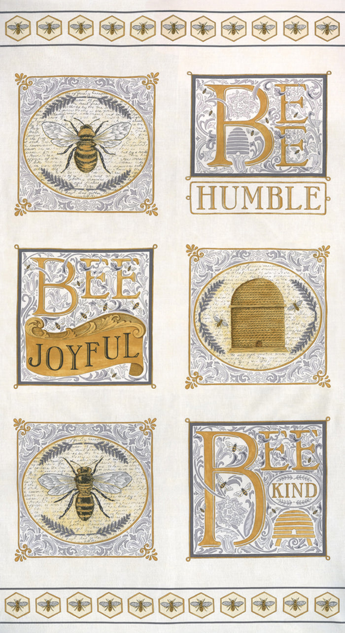 "Moda 44"" Bee Joyful Panel 19870-14"