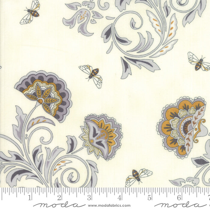 "Moda 44"" Bee Joyful Laurel White"
