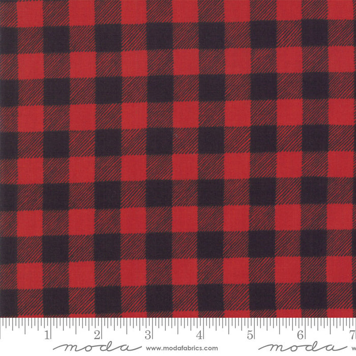 "Red and Black Check 44"" fabric, Moda, Homegrown Holidays, 19897 12"
