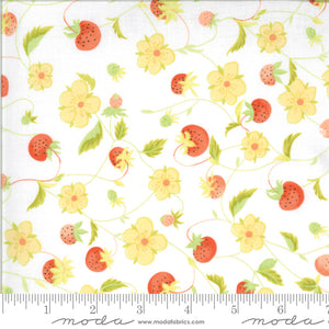 "White Chantilly Chantilly Raspeberries 44"" fabric by Moda, Fig Tree,  20341 15"
