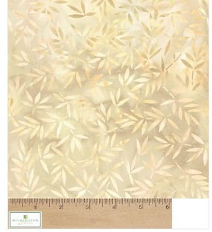 "Cream Mottled Leaves 108"" fabric, Wilmington, 2081-112"