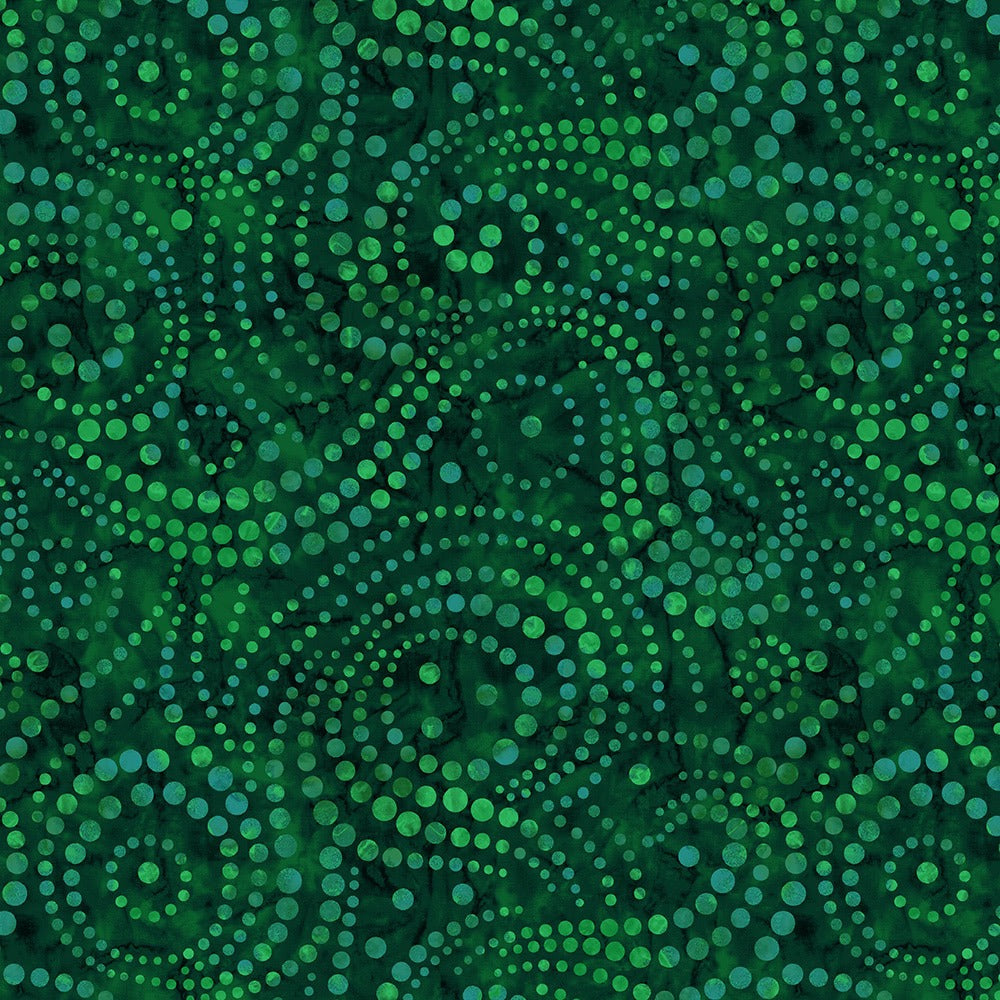 "Green swirly dots 108"" fabric by Wilmington, Ebb & Flow, 2085-779"