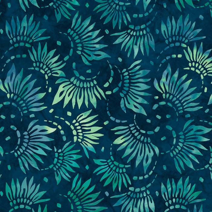 "Teal Petals 108"" fabric, Wilmington,  2086-474"