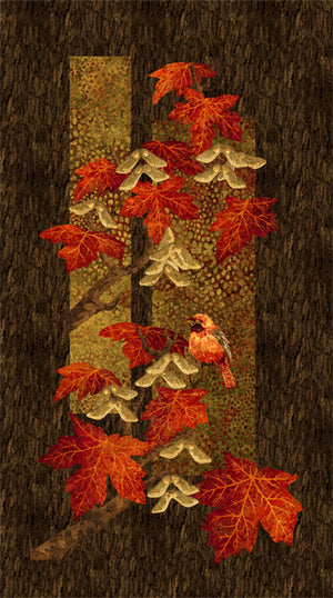 Stonehenge Maplewood - Scarlet Panel by Northcott Panel, 22014-24