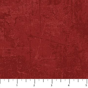 "Red 'distressed look' 44"" fabric by Northcott, 22361-24"