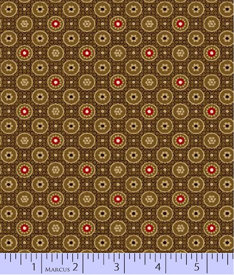 "Brown Reproduction 108"" fabric by Marcus Bros and Paula Barnes, R34-2260-0113"