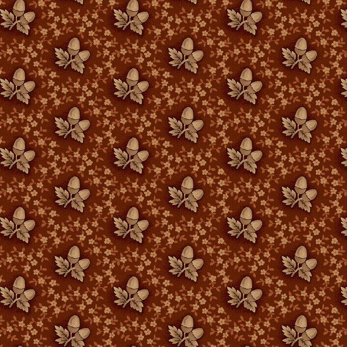 "Russet Acorns 44"" quilt fabric, Henry Glass, 2277-35"