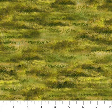 "Green Pasture grass 44"" fabric by Northcott, Country Pastimes, 22851-74"