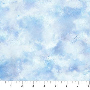 "Blue Clouds 44"" fabric by Northcott, Country Pastimes Collection, 22853-41"
