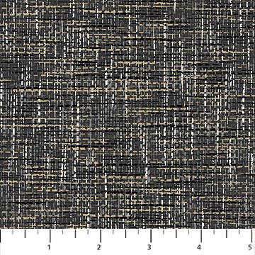 "Black colored tweed 44"" fabric by Northcott, 23225-98, Material Girl"