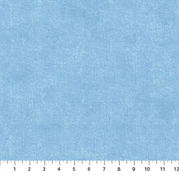 "Light Blue 'Denim look' by Northcott Fabrics, 44"" fabric, 23383-42, Got the Blues"