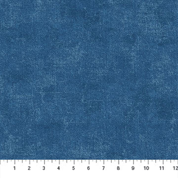"Dark Blue 'Denim look' by Northcott Fabrics, 44"" fabric, 23383-46, Got the Blues"
