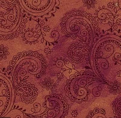"Rust Red Filigree Avalon 108"" fabric by Quilting Treasures, 26312-T"