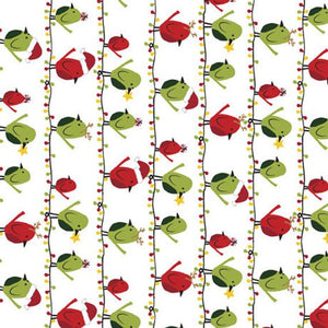 "Birds on Christmas Lights 44"" fabric, Quilting Treasures, 27119-Z, Meowy Christmas"