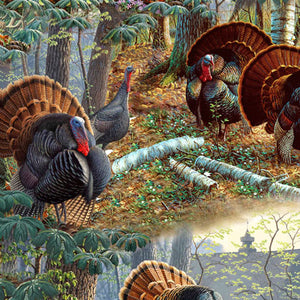 "Turkey Scenic 44"" fabric by Quilting Treasures, Turkey Hill, 27169-X"