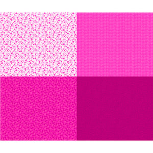 Fuchsia Fat Quarter Patch Panel by Quilting Treasures, Mingle, 27278-PV