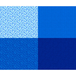 Royal Blue Fat Quarter Patch Panel, Includes 4 fat quarters, Quilting Treasures, Mingle,  27278-Y
