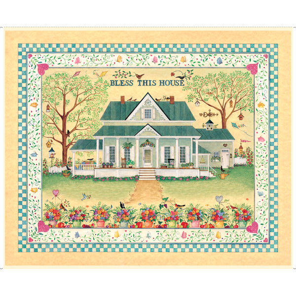 "Bless this House 36"" x 44"" Panel by Quilting Treasures, 27295-S"