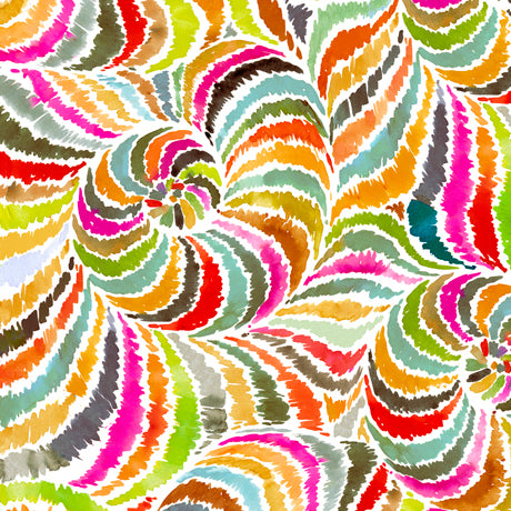 "Watercolor Orange Swirl 44"" fabric by Quilting Treasures, In the Groove,  27394-O"