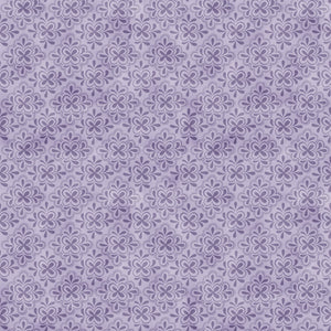 "Purple Floral Tiles 44"" fabric by Wilmington, 27583-664, Amethyst Magic"