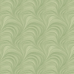 "Green Wave Texture 108"" fabric by Benartex, 2966W-42"