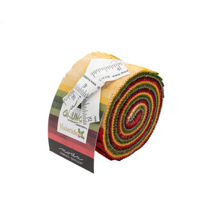 "Holiday Grunge Junior Jelly Roll (2.5"" strips, 10 pcs), Moda, 30150JJRY Yuletide"