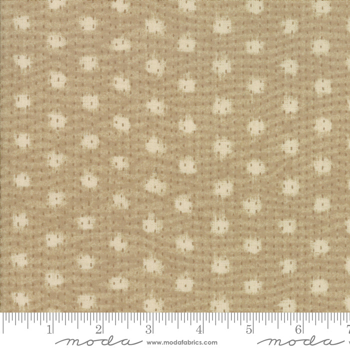 "Tan Boro Sodenaski Flax 44"" fabric by Moda,  Boro Collections,  33402 18"