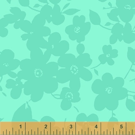 "Green Jade Flowers 108"" fabric by Windham, 35035-5"